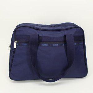 Lesportsac Navy Key Lock Travel Bag